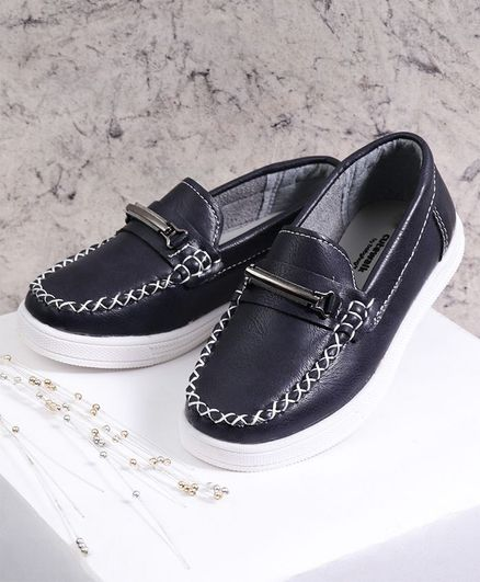 Cute Walk by Babyhug Party Wear Loafers - Navy