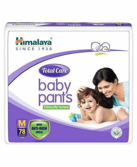 Himalaya Herbal Total Care Baby Pant Style Diapers Medium - 78 Pieces