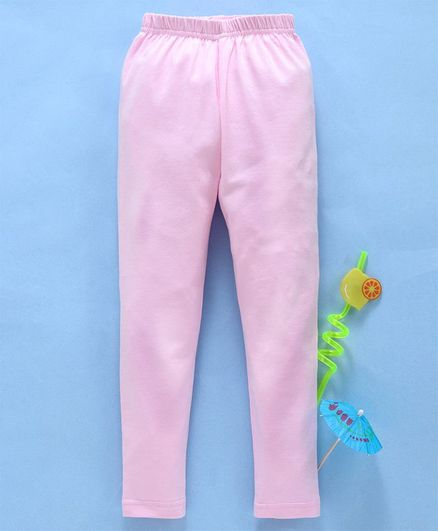 24a4fa05471369 Babyhug Full Length Solid Color Lycra Leggings - Light Pink. 3 to 6 ...