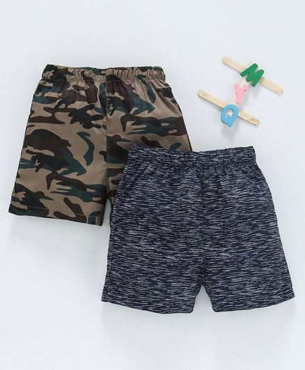 Babyhug Cotton Woven Printed Boxer Set of 2 - Mutlicolor
