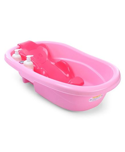 Large Baby Bath Tub with Bather - Pink