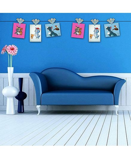 PASSION PETALS Baby Boat Design Wooden Photo Clips Blue - Pack Of 6
