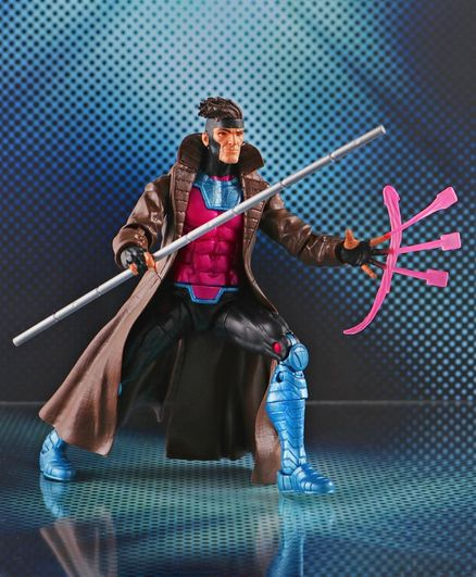 Marvel X Men Gambit Figure Brown & Pink - 14 cm