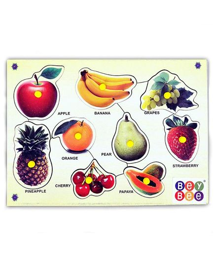 Bey Bee Wooden Fruit Knob Puzzle - Multicolor