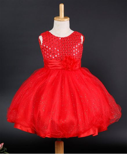 dbd169da5c Buy Awabox Sequin Embellished Sleeveless Dress Red for Girls (3-4 Years)  Online in India, Shop at FirstCry.com - 2816078