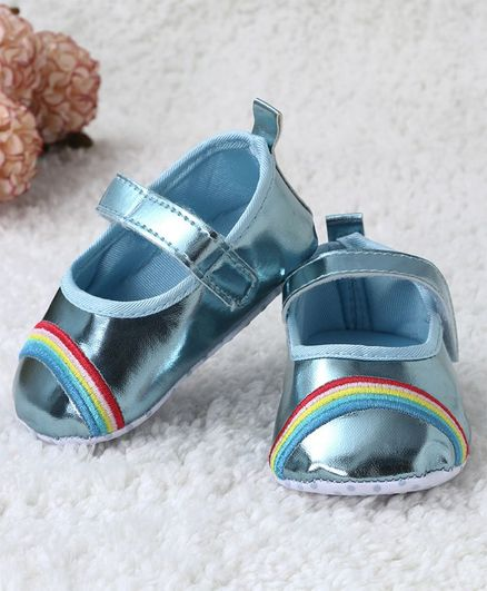 4c2e2d9915 Buy Kidlingss Rainbow Embroidered Velcro Straps Booties Blue for Girls (6-9  Months) Online, Shop at FirstCry.com - 2825475