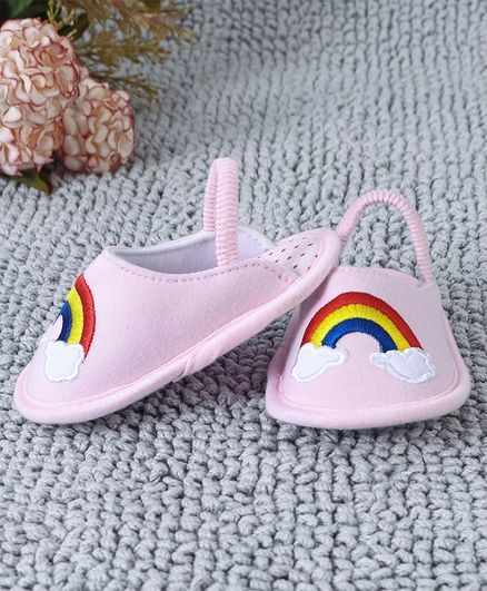 699e5ca5db Buy Kidlingss Cloud & Rainbow Embroidered Booties Pink for Girls (3-6  Months) Online, Shop at FirstCry.com - 2825489