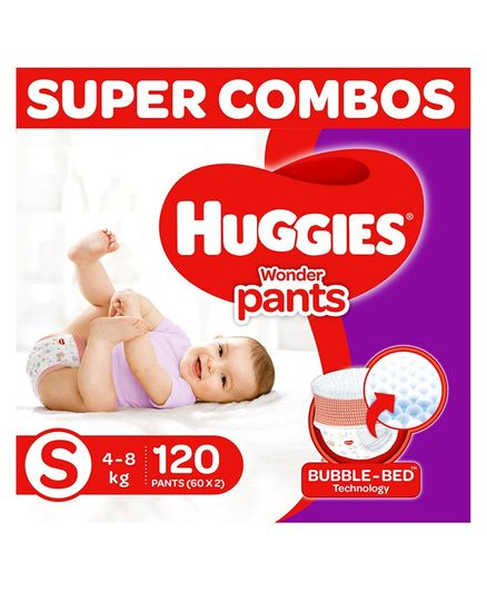 Huggies Wonder Pants Diapers Small Size Combo Pack of 2 -  60 Pieces Each