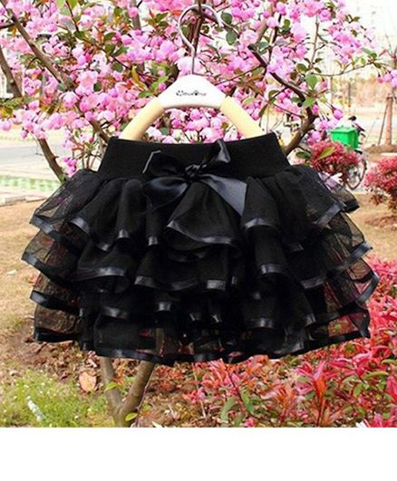 0a9a9b68a4f4d Buy Pre Order Awabox Bow Ruffle Layered Skirt Black for Girls (6-7 Years)  Online in India, Shop at FirstCry.com - 2828104