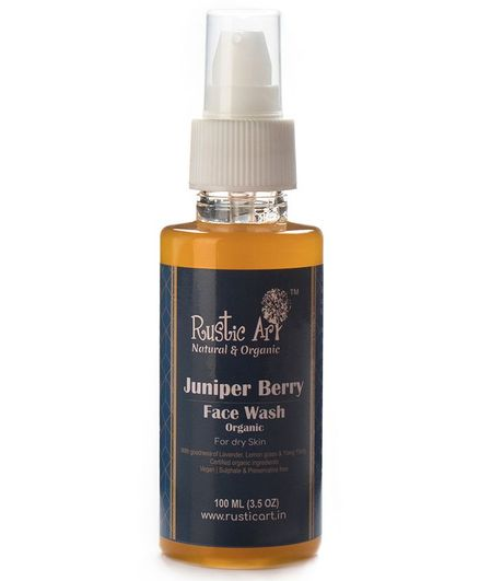 Rustic Art Organic Juniper Berry Face Wash - 100 ml