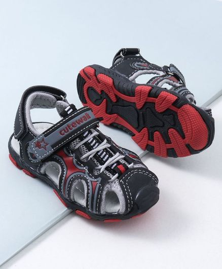 Cute Walk by Babyhug Sandals - Red