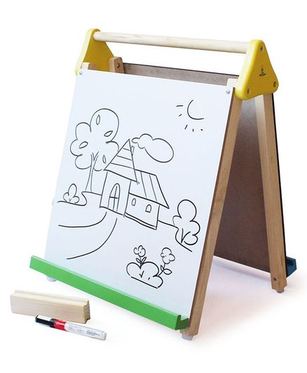 Shumee Wooden Table-Top 3-in-1 Board & Easel - Brown