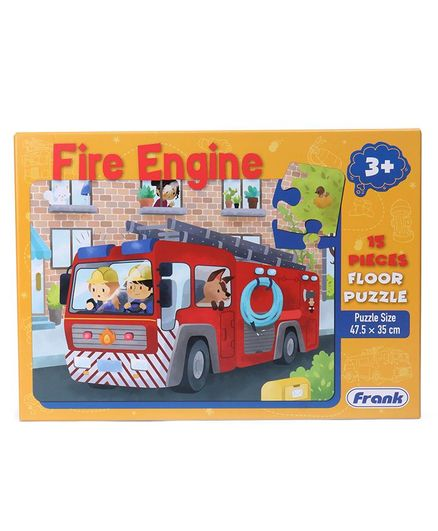 Frank Fire Engine Themed Floor Jigsaw Puzzle Multicolour 15 Pieces Online  India, Buy Puzzle Games & Toys for (3-6 Years) at FirstCry com - 2833571