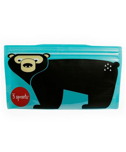 3 Sprouts Reusable Snack Bag Pack Of 2- Black