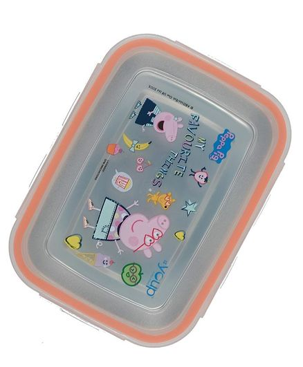 Youp Stainless Steel Lunch Box Peppa Pig Print Orange Online In India Buy At Best Price From Firstcry Com 2842309