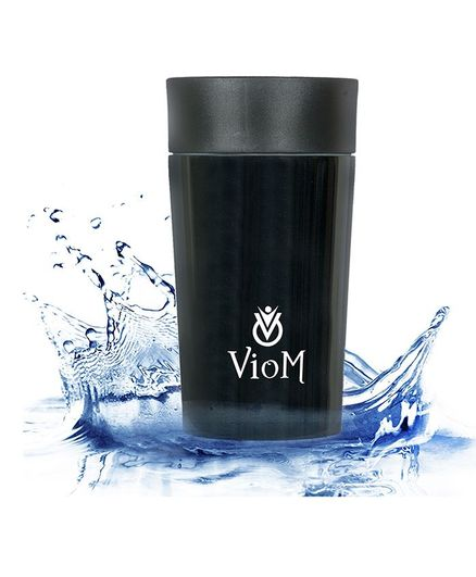 Viom Stainless Steel Double insulated Mug Black - 250 ml