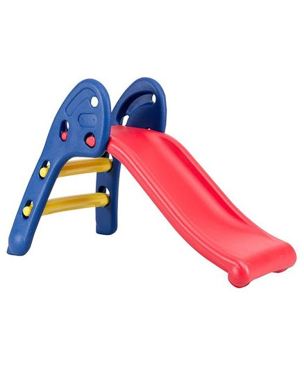 Webby Foldable Baby Garden Slide - Blue & Red