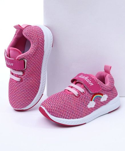 Cute Walk By Babyhug Casual Canvas Shoes - Fuchsia