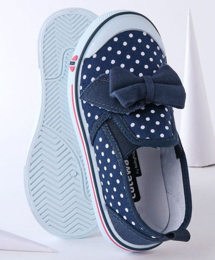 Cute Walk by Babyhug Canvas Shoes Bow Design - Navy Blue
