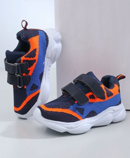 Cute Walk by Babyhug Mesh Sport Shoes - Dark Blue
