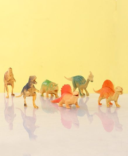 Wild Animal Figurines Set of 7 - Multicolour