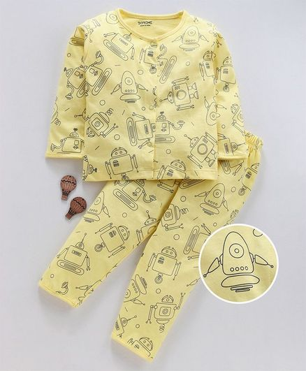 Buy Doreme Full Sleeves Night Suit Robot Print Yellow for Boys (2-3 Years)  Online in India, Shop at FirstCry com - 2853454