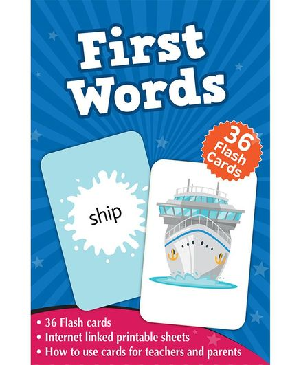 First Words Flash Cards Box - Pack of 36