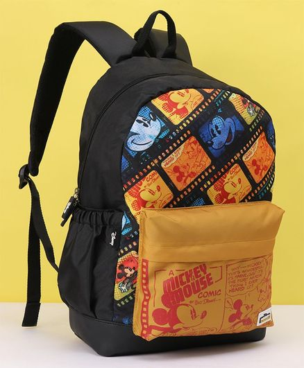 Disney Mickey Mouse and Friends School Bag Black - 17 Inches