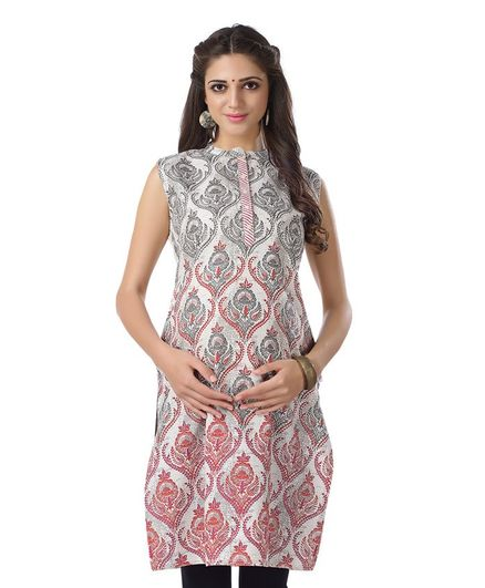 Kriti Sleeveless Maternity Kurta - Off White