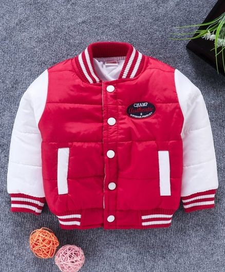 Babyhug Full Sleeves Padded Jacket - Red