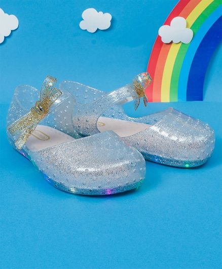 31863dbc3c Buy Little Maira LED Glitter Finish Rain Shoes Silver for Girls (3-3 Years)  Online, Shop at FirstCry.com - 2866923