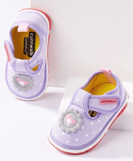 Cute Walk by Babyhug  Musical Casual Shoes Dots Print - Lavender