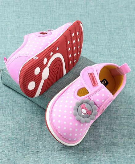 Cute Walk by Babyhug  Musical Casual Shoes Dots Print - Pink