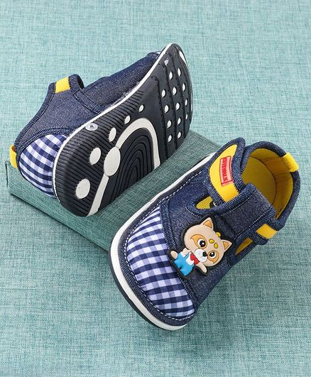 Cute Walk By Babyhug Musical Casual Shoes Kitty Patch - Navy Blue