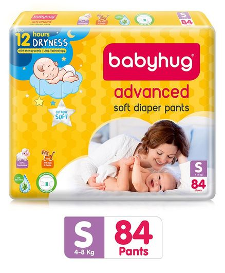 Babyhug Advanced Pant Style Diapers Small - 84 Pieces