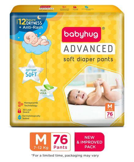 Babyhug Advanced Pant Style Diapers Medium 76 Pieces