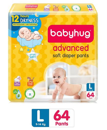 Babyhug Advanced Pant Style Diapers Large - 64 Pieces