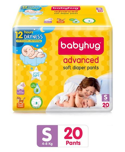 Babyhug Advanced Pant Style Diapers Small - 20 Pieces