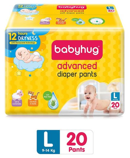 Babyhug Advanced Pant Style Diapers Large - 20 Pieces