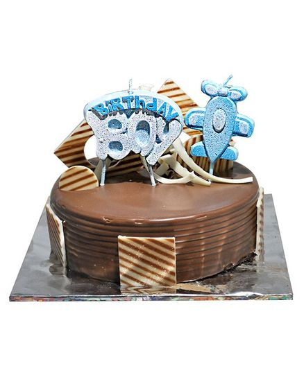 EZ Life Boy & Aeroplane Shape Happy Birthday Candles - Blue