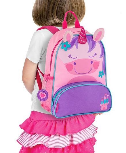 cee5f6b7597f Stephen Joseph Unicorn Backpack Pink Purple Height 12.75 inches Online in  India, Buy at Best Price from Firstcry.com - 2874821