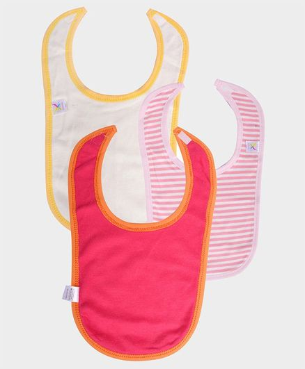 Colorfly Printed & Striped Bibs Pack Of 3 - (Color may vary)