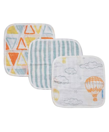 Abracadabra Couture Muslin Face Napkins Multicolor -Set of 3