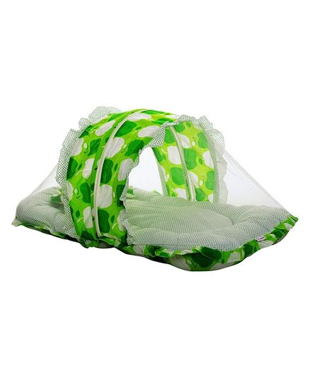 e619ba735 VParents Jumbo Baby Cotton Bedding Set With Mosquito Net And Pillow Green  Online in India, Buy at Best Price from Firstcry.com - 2883854