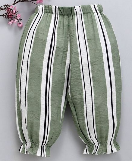 1bded908e5c45 Buy Lekeer Kids Striped Harem Pants Green for Girls (9-12 Months) Online in  India, Shop at FirstCry.com - 2889821