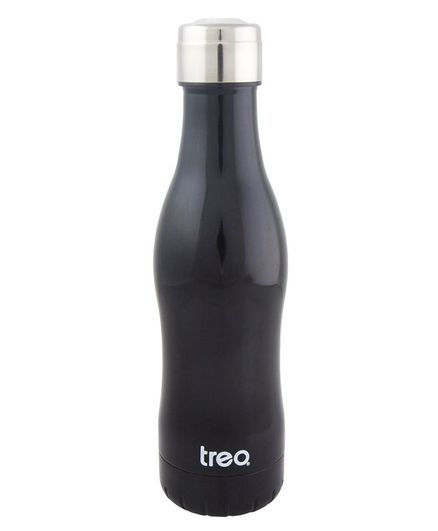 Treo by Milton Campa 500 Vaccum Insulated Hot & Cold Stainless Steel Water Bottle Black - 455 ml