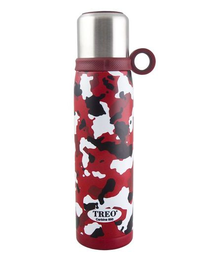 Treo by Milton Carbine 650 Vaccum Insulated Hot & Cold Stainless Steel Water Bottle Red - 600 ml