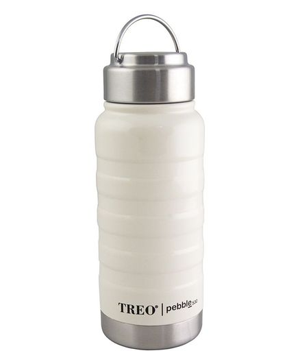 TREO By Milton Pebble Insulated Hot & Cold Bottle White - 530 ml