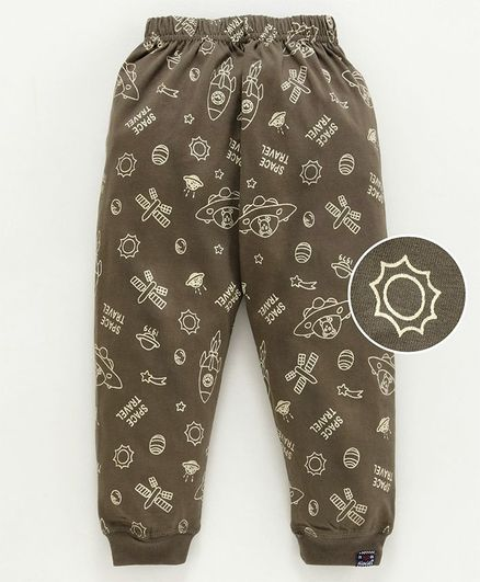 Olio Kids Full Length Track Pants - Brown
