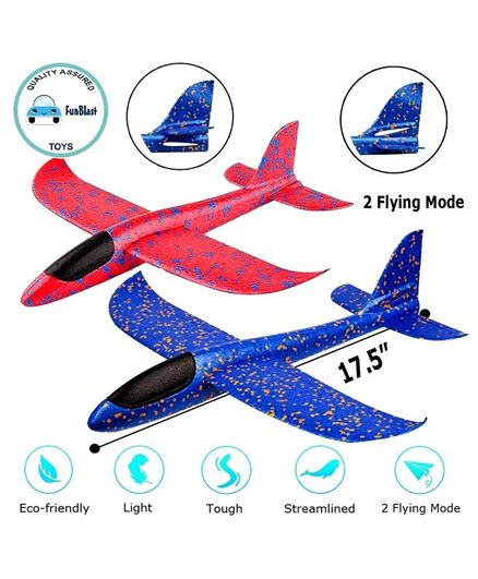 FunBlast DIY Foam Toy Aeroplanes - Pack of 2 (Colour May Vary)